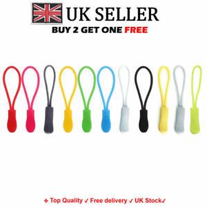 Set of 5 / 10 Zip Pull Zipper Puller Cord Slider Fastener Jacket Bag Backpack