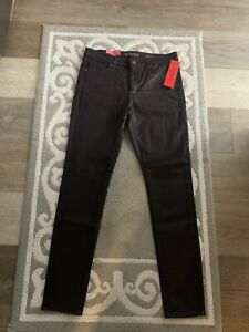 NWT NEW Spanx The Slim-X Skinny Wax Jeans Womens 30 Burgundy Pants