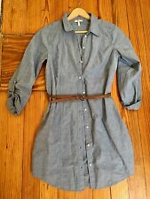 Joie Tarellia Belted Button Down Dress Small