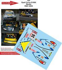 Decals 1/32 réf 737 Opel Corsa S1600 Meeke Monte Carlo 2004