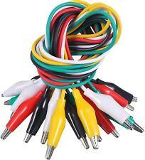10x Alligator Test Leads Electrical Jumper Clips Double Ended Cable Wire Kaiweet