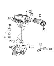Genuine MOPAR Make Up Air Hose 4593692AC