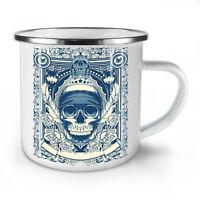 Day Dead Feather Skull NEW Enamel Tea Mug 10 oz | Wellcoda