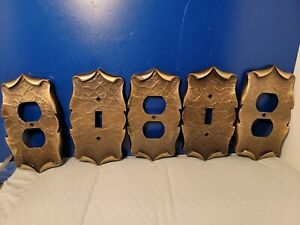 Lot of 5 Vintage Amerock Carriage House Light Switch Plates and Outlet Covers