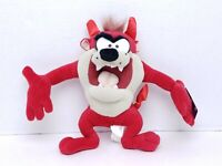 2002 Nanco Looney Tunes Red Taz Tasmanian Devil Plush Horns & Tail With Tags