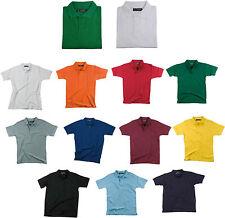 maglia maglietta polo piquet uomo donna cotone 100% 11 col. taglie S M L XL XXL