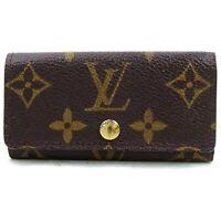 Authentic Louis Vuitton Key Case Multicles4 Browns Monogram 1206377