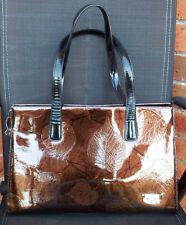 Serenade - Patent Leather Autumn Leaf Embossed Handbag