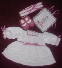 """Machine knitting pattern: """"Star"""" Baby/Reborn Outfit MPN MK331 by Frandor Formats"""