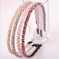 Fashion Girl Crystal Tiaras Handmade Beaded Headband Hair Band Hoop Accessories