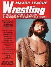 Mid South wrestling program Issue #96, 1984 Duggan Flair Killer Khan Von Erich