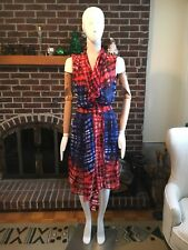 bcbg maxazria XS Firey Transparent Dress With Belt
