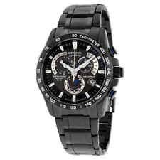 Citizen Perpetual Chrono A-T Black Dial Men's Watch AT4007-54E