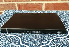 LN NRSV Go-Anywhere Thinline Bible Black B Leather Silver Gilt Concordance/Maps