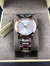 BURBERRY The City Two-Tone Women's Swiss Made Diamond Watch BU9127 $895 NEW!