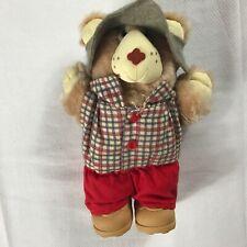 "Graphics International Plush Bear VTG 1986 Small 7"" Stuffed Teddy Shoes Hat Gift"