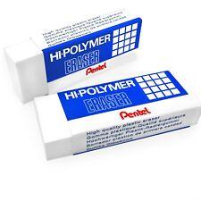 Pentel Polímero Jumbo Plástico Cauchos Borrar - Blanco - Paquete De 2