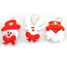 3 Novelty Christmas Tree Hanging Decorations Flashing LED Soft Teddy Xmas Decor