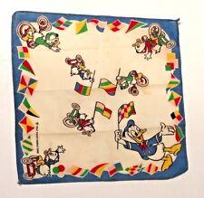 Vintage Disney Donald Duck & Nephews Huey Dewy Louie Handkerchief Hankie Hanky