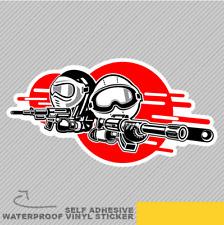 Cartoon Boy Girl Play Airsoft Gun Vinyl Sticker Decal Window Car Van Bike 2731