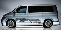 Volkswagen Transporter Caravelle T5 T6 Side panel Futuristic Decal Sticker Set