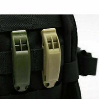 3Pcs Whistle Pfeife Kunststoff für Notfall Überleben Schiedsrichter Mit Lanyard