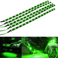 5 X Green 15 LED 30CM Car Grill Flexible Waterproof Light Strip SMD 12V Sales