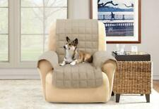 Comfort Memory Foam with Paw Prints Recliner Furniture Cover cream
