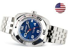 Vostok Amphibian 710432 / 2416 Military Russian Diver Watch Blue