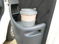 FIAT PEUGEOT CITROEN CAMPER VAN MOTORHOME - 2006 - NEW STAINLESS DOOR CUP HOLDER