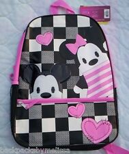 MICKEY and MINNIE Mouse Pook-A-Looz Canvas Backpack NEW Disney Book Bag Tote