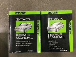 Service Repair Manuals For Toyota Camry For Sale Ebay