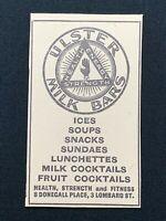 1938 Newspaper Clipping ULSTER MILK BARS BELFAST, HEALTH STRENGTH & FITNESS