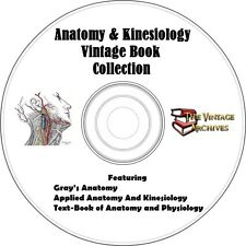 Anatomy and Kinesiology Vintage Book Collection on CD -  Gray's Anatomy and more