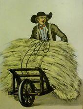 Hamburgo/hamburgensie mostrarían tras 1808 aguafuerte de C. suhr: - Stroh paja -
