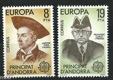 ANDORRA  Edifil # 133/134 ** MNH Set. EUROPA cept 1980