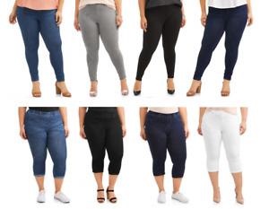 Terra & Sky Women's Plus Size Full Length Super Soft Jegging and Capri