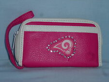 LOS ANGELES RAMS  Womens/Girls  PINK FASHION WALLET with Rhinestones  NEW!