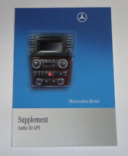 Owner's Manual Supplement Mercedes Benz SLK R171 Audio 50 APS Stand 11/2009