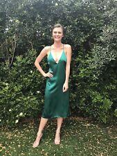 Reformation Green Silk Dress