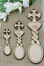 Personalised Wooden Love Spoons Cross Heart Favours Vintage Wedding Decoration
