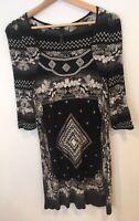 Ladies Next Size 10 Dress Black <SW2202