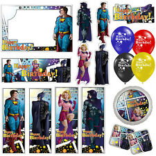 Comic Book Superhero Happy Birthday Banners Decorations Balloons Party Supplies