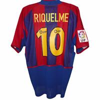 2002-2003 Barcelona Player Issue Home Shirt #10 Riquelme Nike Large (Excellent)