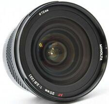 MINOLTA AF 20mm F/2.8 (22) Lens Excellent No. 21102473