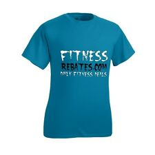 Men's Small Teal Fitness Rebates T-Shirt - Hanes ComfortBlend Workout Clothing