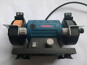 120W Mini Bench Grinder Machine Ferrex Used with 2 stones