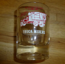 Worthington Cement Truck Mixers Mixerama Shot Glass Concrete Machinery Vintage
