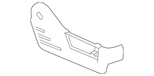 Genuine Ford Seat Track Cover BL3Z-1862187-AB