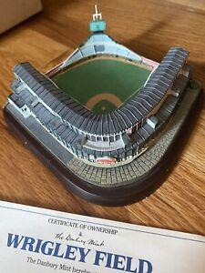 Danbury Mint Wrigley Field Chicago Cubs Replica Stadium Original Box